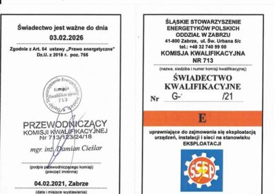 Świadectwo Kwalifikacje - ŚSEP - E
